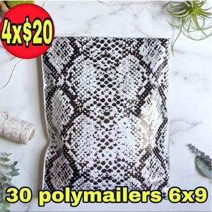 30 poly mailers snake print size 6x9